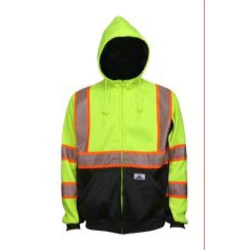 MCR Safety S2CL3LZ Sweatshirt, Class 3, -Silver Tape Lime-Black 1 Pc Jacket