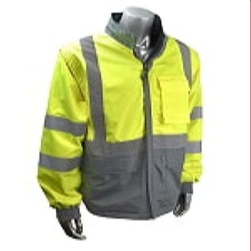 Radians SJ07-3ZDS Green High Visibility 4 In 1 Reversible Windbreaker Jacket