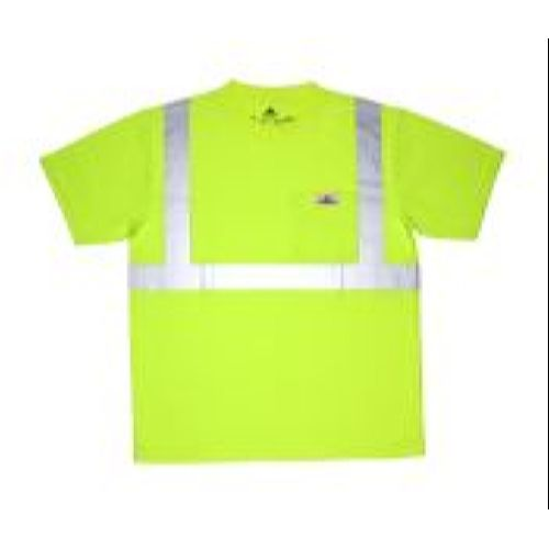 MCR Safety STSCL2ML Class 2, T-Shirt, Birdeye, Wicking Lime