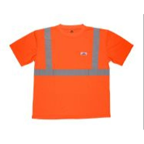 MCR Safety STSCL2MO Class 2 T-Shirt, Birdeye, Wicking, Orange