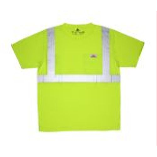 MCR Safety STSCL2SL Class 2, T-Shirt, Jersey knit Lime