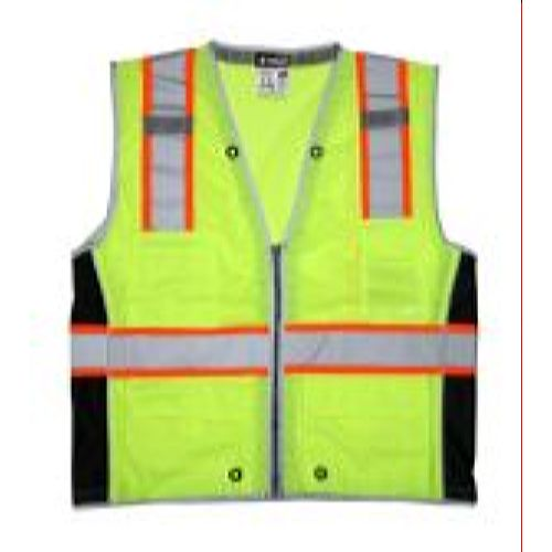 MCR Safety SURVCL2L Class 2, Surveyor, Silver/  Lime Safety Vests