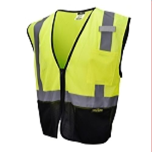 Radians SV3B-2ZGM Color-Blocked Economy Mesh Safety Vest - Lime