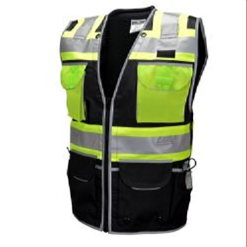 Radians SV55-1ZBD Class 1 Black Mesh Engineer Vest Zipper 2