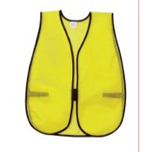 MCR River City V200 Poly, Mesh Safety Vest, 18 X 47, Lime