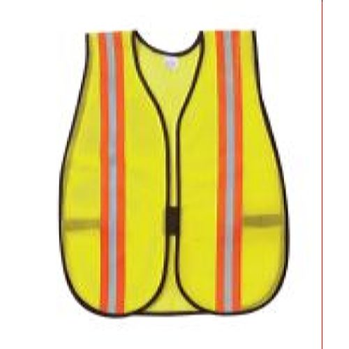 MCR River City V200R Poly, Mesh Safety Vest, 2 /Silver Lime
