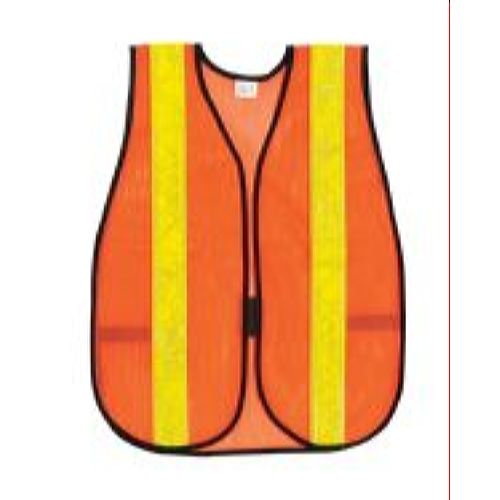 MCR River City V231R Poly, Mesh Safety Vest, 2  Stripe, Orange