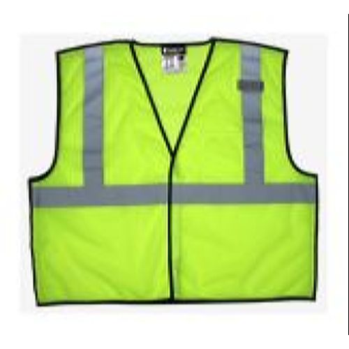 MCR Safety VBCL2ML Class 2, Tear-Away, Economy Vest,   Lime