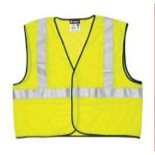 MCR Safety VCL2ML  Green, Class 2, Economy Vest Lime