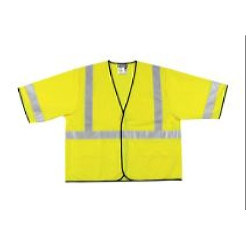 MCR Safety VCL3SL  Green, Class 3, Economy Vest Lime