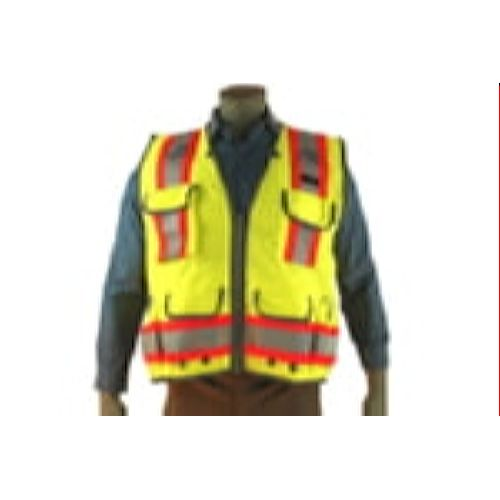 Indian River VG400 High Visibility Class 2 Green Heavy Duty Surveyors Vest Two-Toned