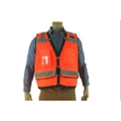 Indian River VR300 Class 2 Heavy Duty Surveyor Vest HiViz Orange