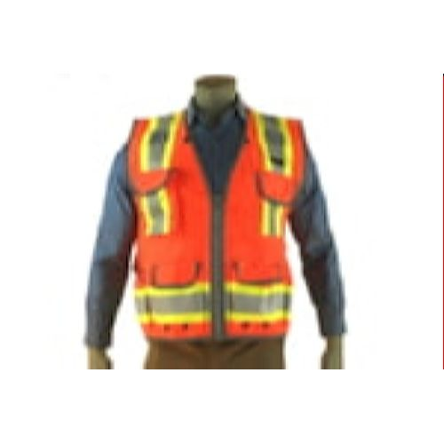 Indian River VR400 High Visibility Class 2 Orange Heavy Duty Surveyors Vest Two-Toned
