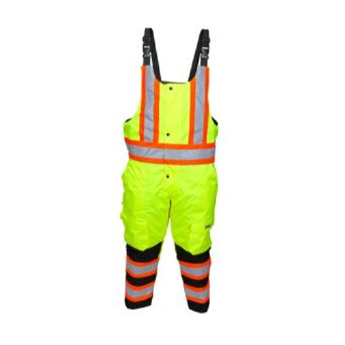 MCR Safety VT38BP Vortex, Insulated Class E Bib Pant Lime-Black 1 Pc Bib