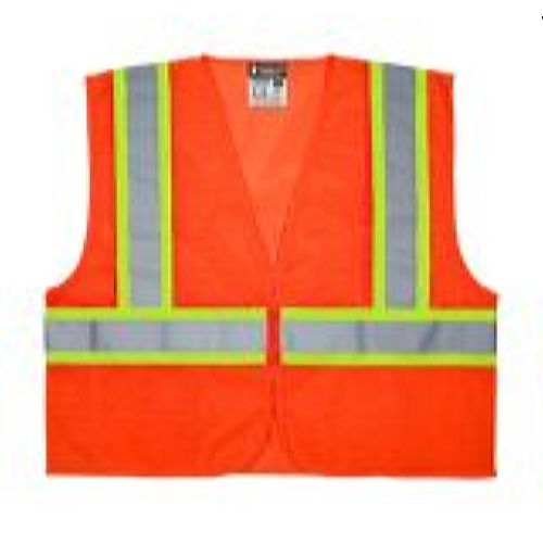 MCR Safety VWCCL2OFR Value, Class 2, Mesh, Limited Flammability, 4 1/2, Orange Safety Vests