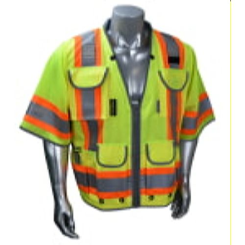 Radians SV55-3ZGD Type R Class 3 Heavy Woven Two Tone Engineer Vest-Lime/Green