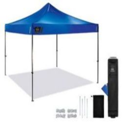 Ergodyne SHAX® 6000 Heavy-Duty Pop-Up Tent - 10ft x 10ft / 3m x 3m - Blue