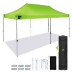 Ergodyne SHAX® 6015 Heavy-Duty Pop-Up Tent - 10ft x 20ft / 3m x 6m - Lime