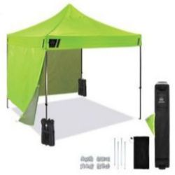 Ergodyne SHAX® 6051 Heavy-Duty Pop-Up Tent Kit - 10ft x 10ft / 3m x 3m - Lime