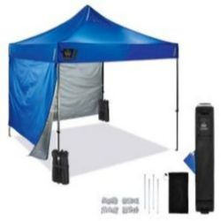 Ergodyne SHAX® 6051 Heavy-Duty Pop-Up Tent Kit - 10ft x 10ft / 3m x 3m - Blue