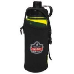 Ergodyne Squids® 3775L Water Bottle Holder & Trap - Large - Black