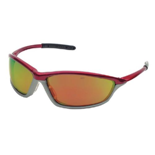 MCR Safety SH14R SH1 Crimson/Stone Frame, Fire Mirror