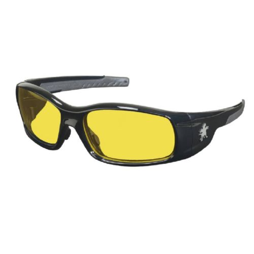 MCR Safety SR114 Swagger SR1 Black Frame, Amber Lenses