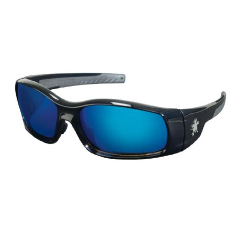 MCR Safety SR118B Swagger SR1 Black Frame, Blue Dmd Mirror