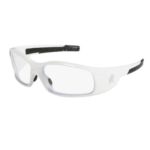 MCR Safety SR120 Swagger SR1 White Frame, Clear Lenses