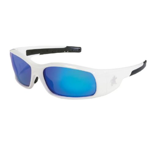 MCR Safety SR128B Swagger SR1 White Frame, Blue Dmd Mirror