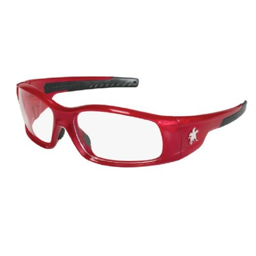 MCR Safety SR130 Swagger SR1 Red Frame, Clear Lenses