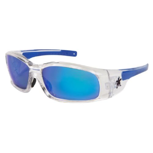 MCR Safety SR148B Swagger SR1 Clear Frame, Blue Dmd Mirror