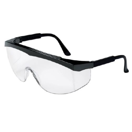 MCR Safety SS010 SS1 Black Frame, Clear Lens Uncoated