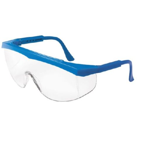 MCR Safety SS120 SS1 Blue Frame, Clear Lens