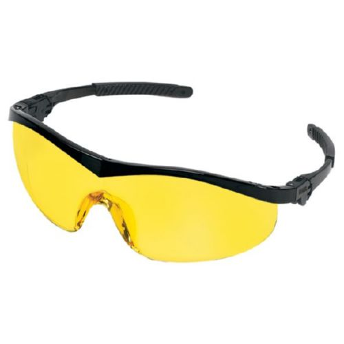 MCR Safety ST114 ST1 Black Frame, Amber Lens