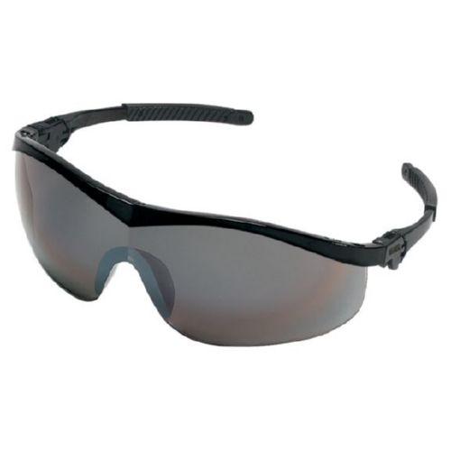 MCR Safety ST117 ST1 Black Frame, Silver Mirror Lens