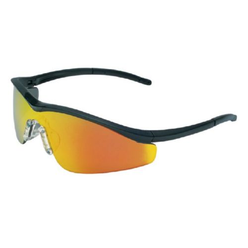 MCR Safety T111R T1 Onyx Frame, Fire Mirror Lens