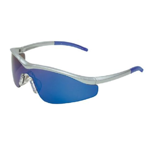 MCR Safety T1148B T1 Steel Frame, Blue Diamond Mirror Lens