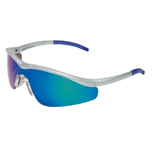 MCR Safety T114G T1 Steel Frame, Emerald Mirror Lens