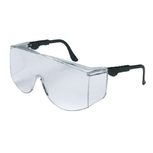 MCR Safety TC110XL TC1 XL Black Temples, Clear Lens