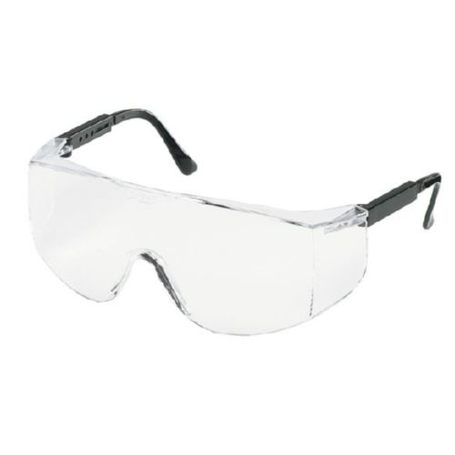 MCR Safety TC110 TC1 Black Temples, Clear Lens