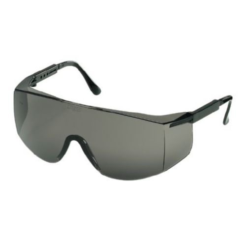 MCR Safety TC112 TC1 Black Temples, Gray Lens