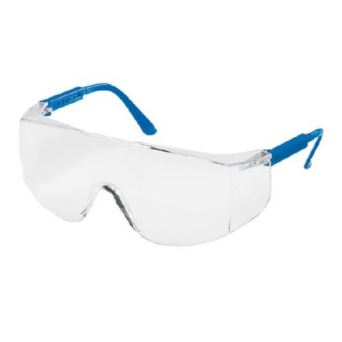 MCR Safety TC120 TC1 Blue Temples, Clear Lens