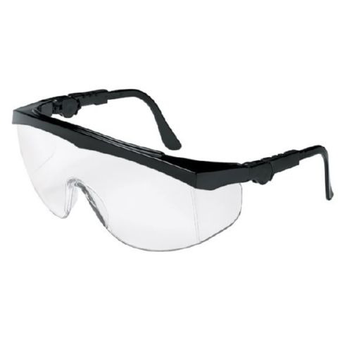 MCR Safety TK110 TK1 Black Frame, Clear Lens