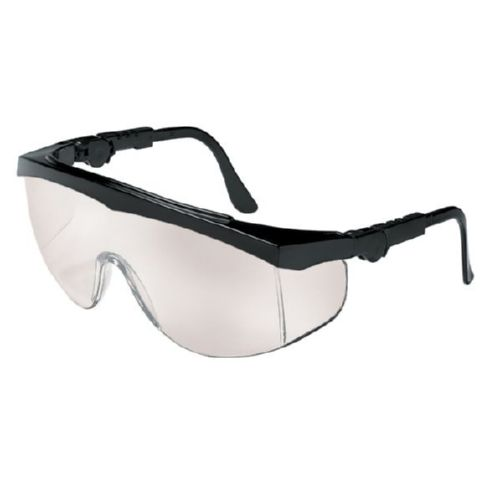 MCR Safety TK119 TK1 Black Frame, I/O Clear Mirror Lens