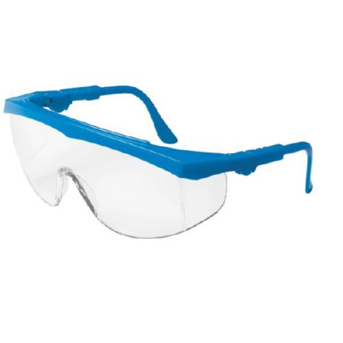 MCR Safety TK120 TK1 Blue Frame, Clear Lens
