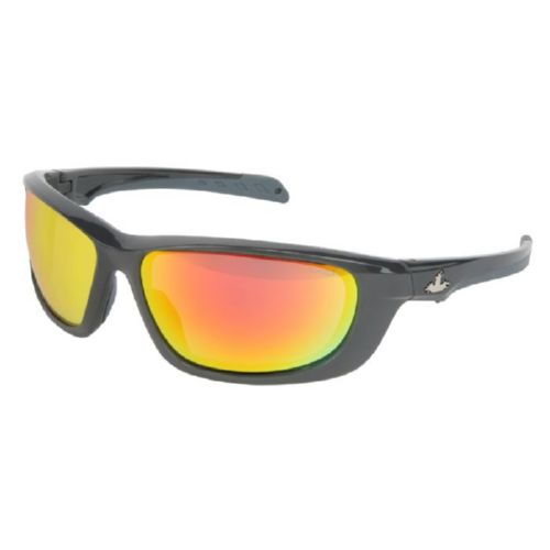 MCR Safety UD11R UD1 Gun Metal Frame, Fire Mirror Lenses