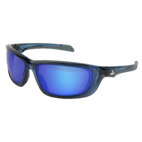 MCR Safety UD128B UD1 Dark Blue Frame, Blue Diamond Mirror