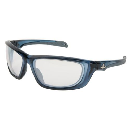 MCR Safety UD129 UD1 Dark Blue Frame, I/O Clear Mirror