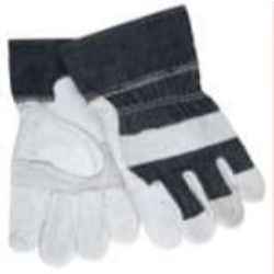 MCR Safety 1220DX Cowhide Leather with Patch Palm glove - Size: Large